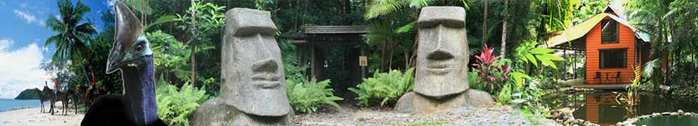 cape tribulation accommodation and sculpture trail