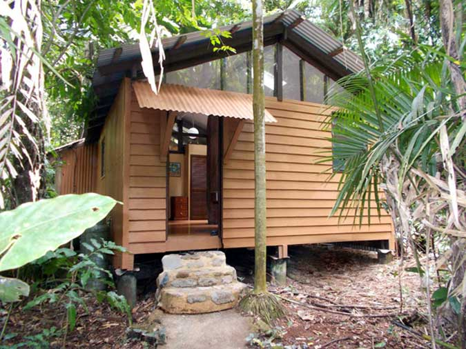 jungle hut in the daintree rain forest