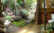 bathroom of your daintree rainforest bungalow