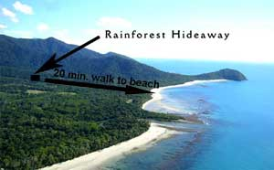 location near the beach of your cape tribulation accommodation