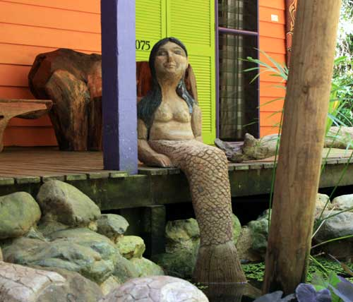 mermaid cement sculpture bby artist in residence monica moreno
