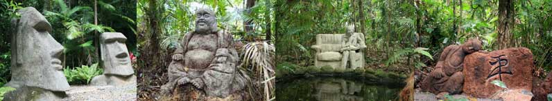 sculpture trail at daintree accommodation