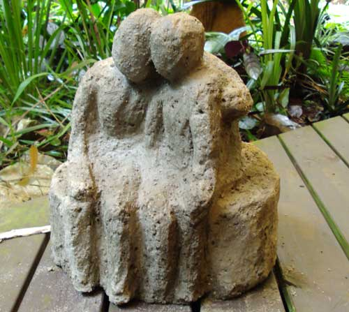 small cement sculpture
